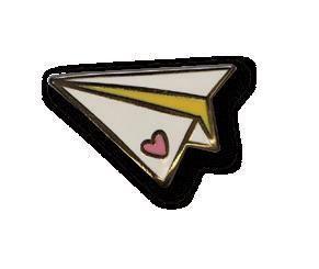 Paper plane badge
