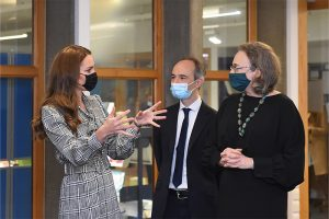The Duchess of Cambridge, Pasco Fearon and Alissa Goodman talking